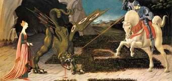 San Giorgio lotta contro il Drago e salva dal sacrificio la Principessa